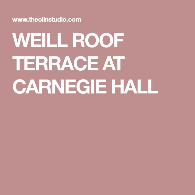 WEILL ROOF TERRACE AT CARNEGIE HALL