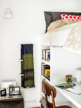 Loft bed with office space