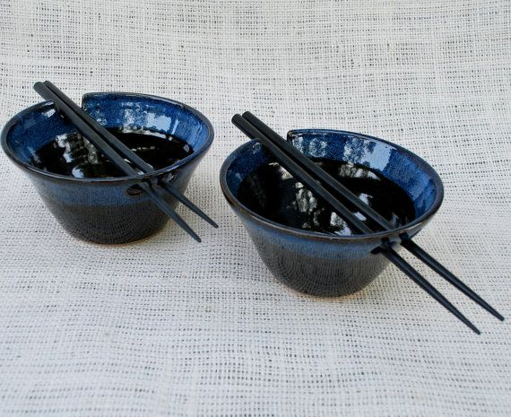 Set of Rice Bowls with Chopsticks