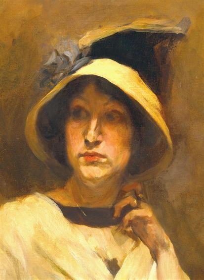 Columbano Bordalo Pinheiro, Portrait of Maria Cristina Bordalo Pinheiro, 1912, MNAC, Lisbon