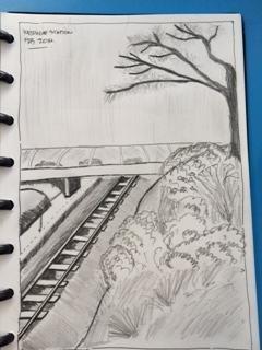 Sydney's sketches The railway | -- Dasapta Erwin Irawan --