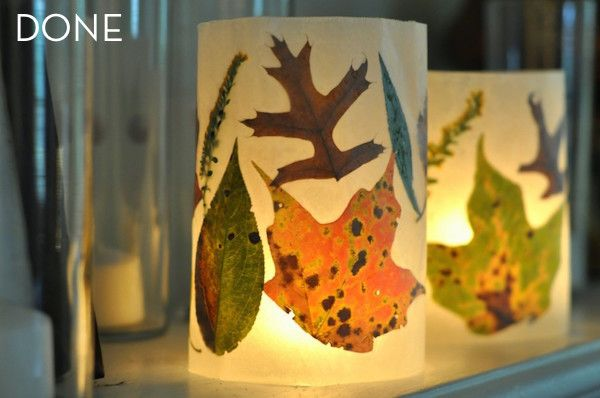 How To: Make Insanely Easy Autumn leaf Lanterns