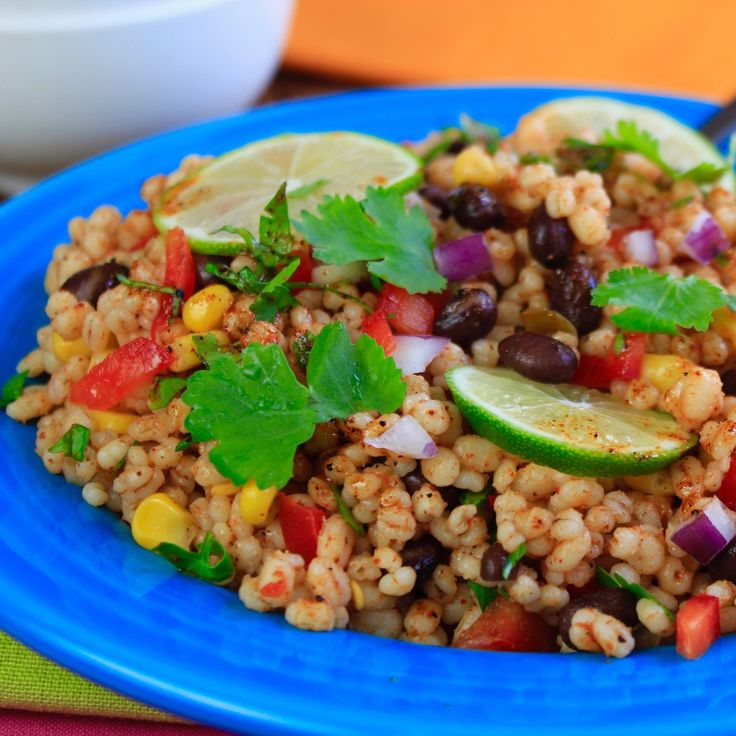 Try this delicious, cold, zesty healthy Taco Fiesta Barley Salad!