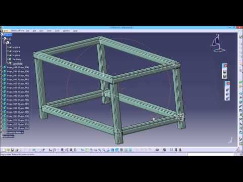 CATIA V5: structure design - YouTube