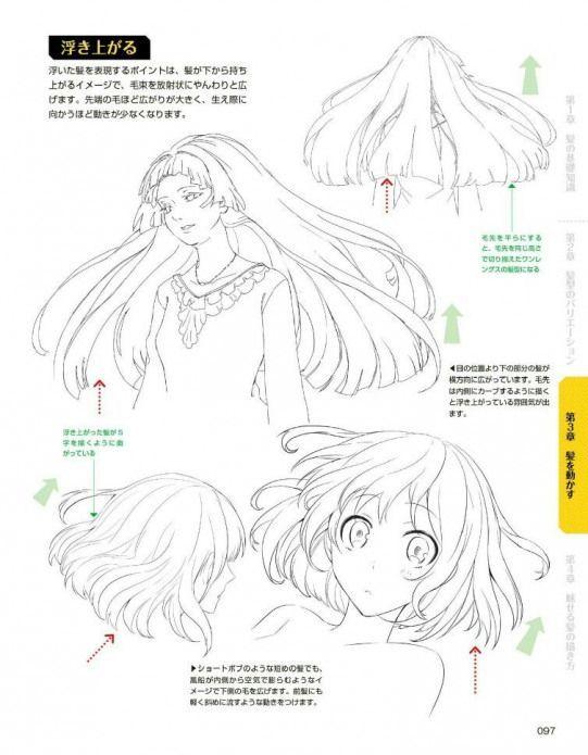 097 Animedrawing Anime Drawing Hairstyles Manga Hair Drawing Tutorial Manga Drawing Tutorials