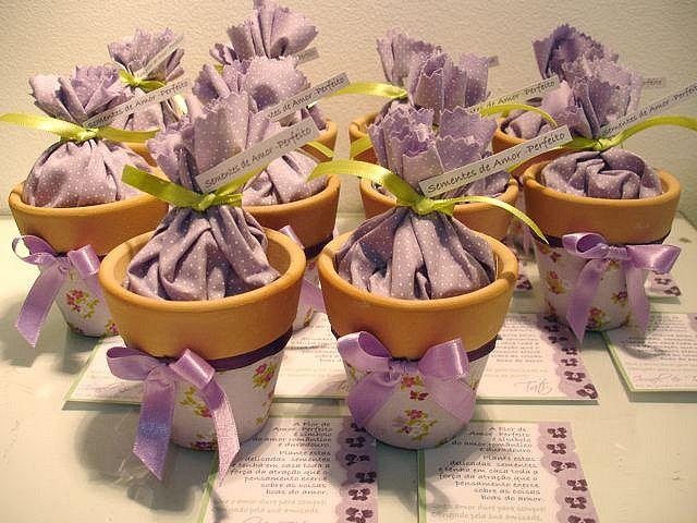 Vasinhos com sementinhas