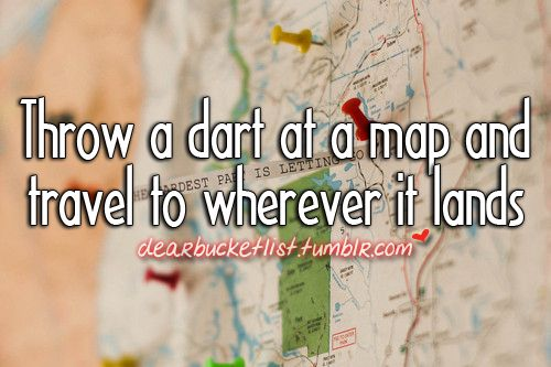 Random Wolfpack trip anyone?!  With my dart throwing we'd end up in the ocean, but I say that means cruise ;)