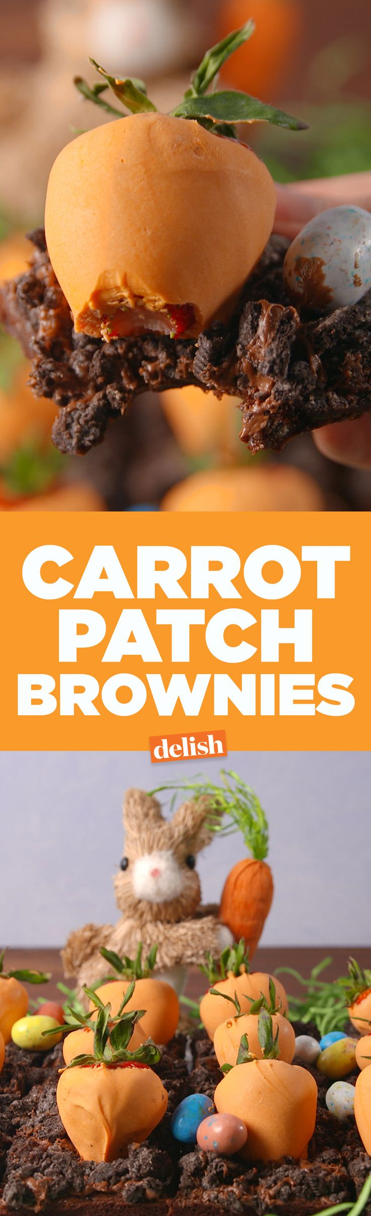 These Carrot Patch Brownies are the no-fail Easter dessert you'll make every single year. Get the recipe on Delish.com.