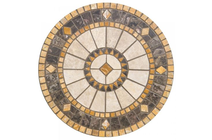 Compass 30 Quot Round Marble Mosaic Table Top 40 Garden