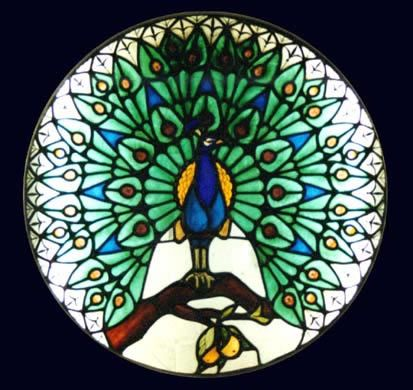 Image detail for -Stained Glass Interiors Surbiton Surrey Greater London - Peacock ...