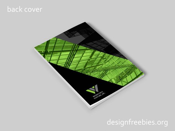 Free company profile InDesign template back cover