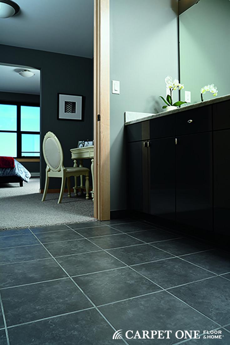 58 best floor tile images on pinterest tile floor tile flooring love the elegance of a dark tile floor in a bathroom dailygadgetfo Choice Image