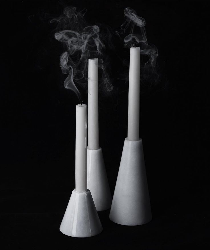 Pure Marble Candlestick Set. | for all any information : info@marbleous.co #marbleous