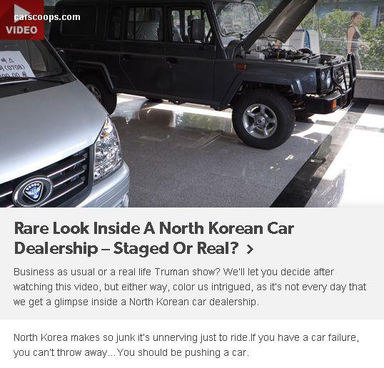 #car #north #korea