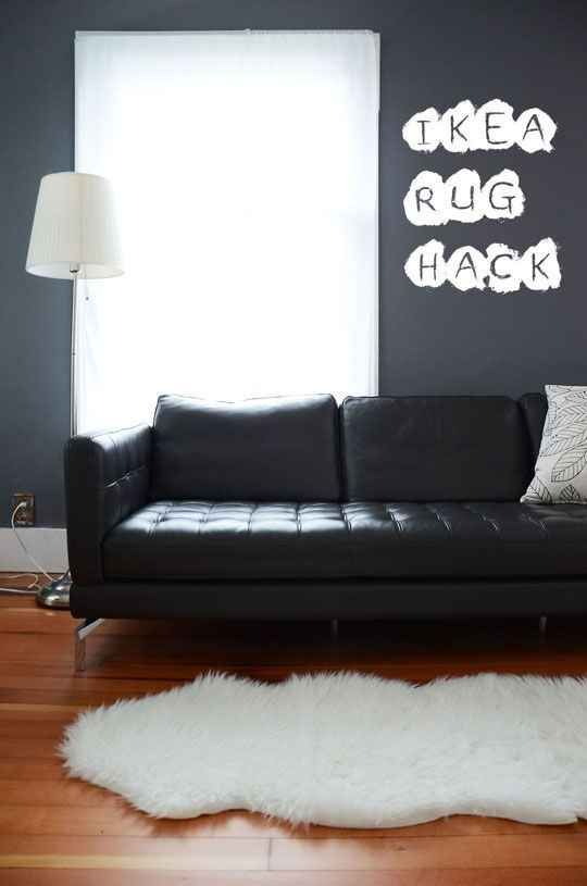 Sew two Rens sheepskin rugs together to create one giant one.