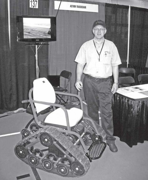 A wheelchair lift, an off-road wheelchair and a device that makes tying shoes easier were among the ideas on display at the 53rd annual Minnesota Inventors Congress (MIC) in June 2010.