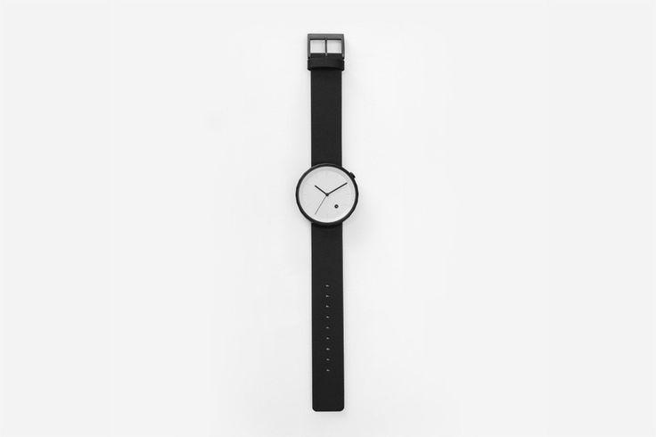 POLYGON WATCH (PVD Black / Black Leather) – chiandchi