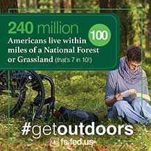 7 in 10 Americans live within 100 miles of a National Forest or Grassland #getoutdoors