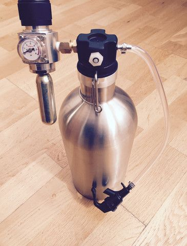 Growler tap with co2 complete kit