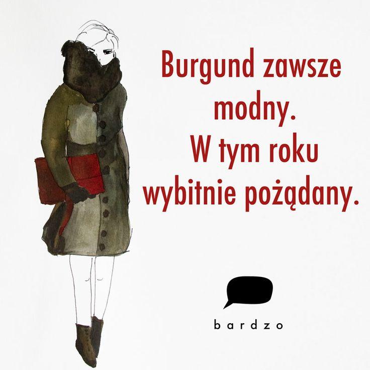 Burgund zawsze modny.  #fashion_illustration #burgundy #handbag #clutch