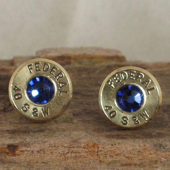 Bullet  Earrings   Stud Earrings  Ultra Thin  S&W;  by ShellsNStuff, $14.99