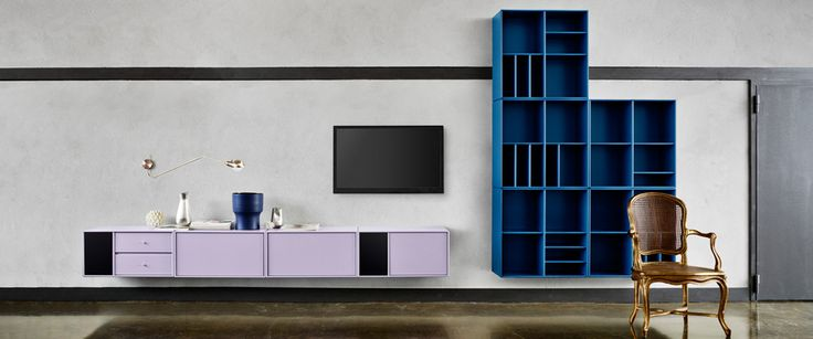 Montana - TV/Hi-Fi furniture. (Idea: don´t center the TV)