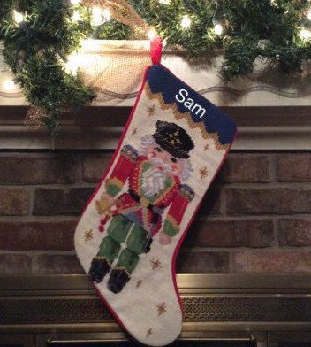 Nutcracker Personalized Needlepoint Christmas by BABarkerGifts