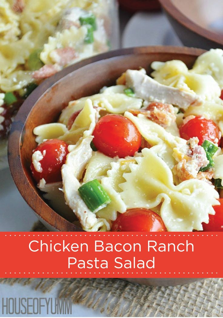 No cookout is complete without a delicious pasta salad. Check out this delicious Chicken Bacon Ranch Pasta Salad recipe for your next backyard barbecue.