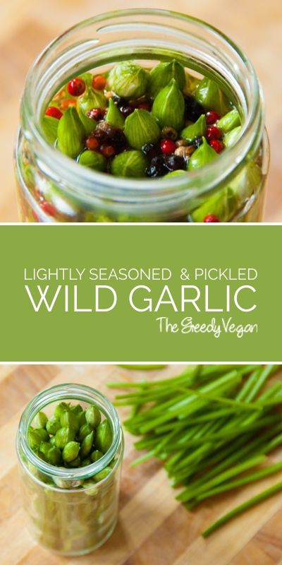 This pickled wild garlic is great for barbecues and adds a bit of a kick to any salad or sandwich - it is also a great way to use up your wild garlic buds. #vegan #vinegar #wildgarlic #pickled