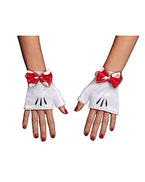 Red Minnie Adult Gloves - Spirithalloween.com