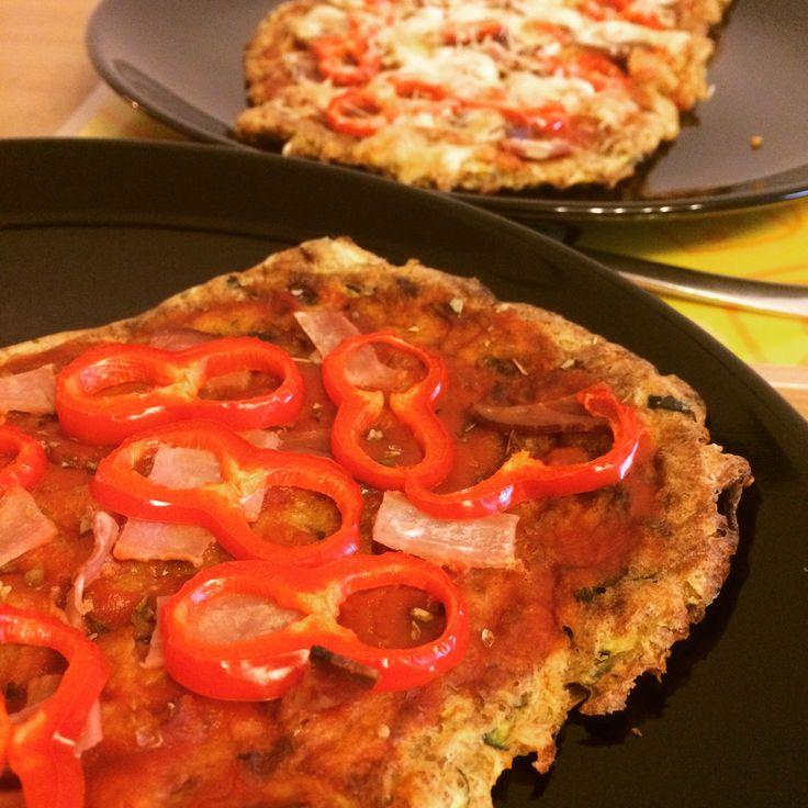 Cukkini-quinoa pizza