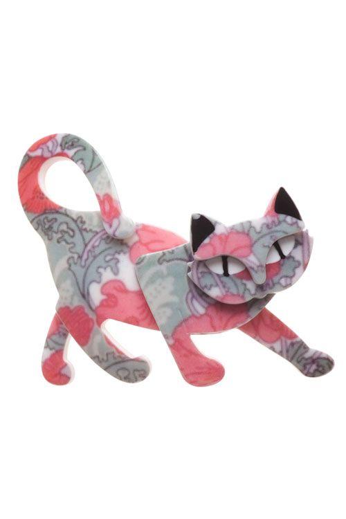 Erstwilder Taming Tamara Brooch  cat
