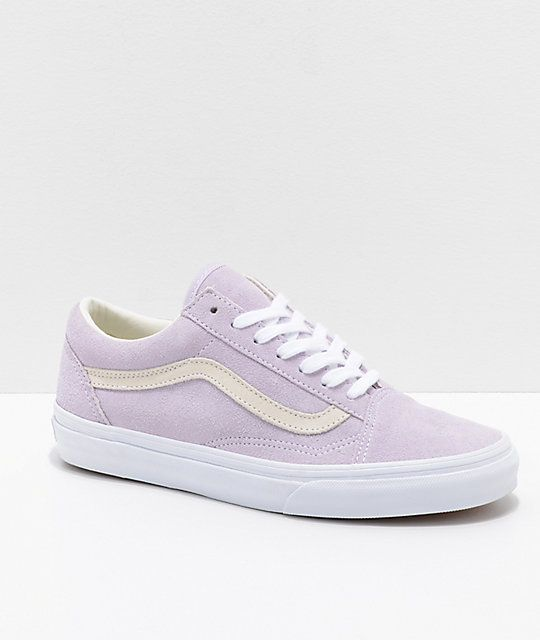 15a372e293 Vans Old Skool Pastel Orchid   White Skate Shoes in 2019