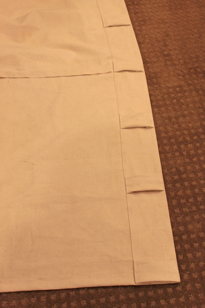 DIY: drapes with hidden tabs. PERFECT. (thermal/reflective lining can be done this way?)