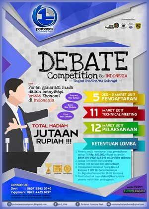 #LombaDebat #PerbanasEconomyDays #STIEPerbanas #Surabaya Perbanas Economy Days 2017 Economy Debate Competition  DEADLINE: 5 Maret 2017  http://infosayembara.com/info-lomba.php?judul=perbanas-economy-days-2017-economy-debate-competition