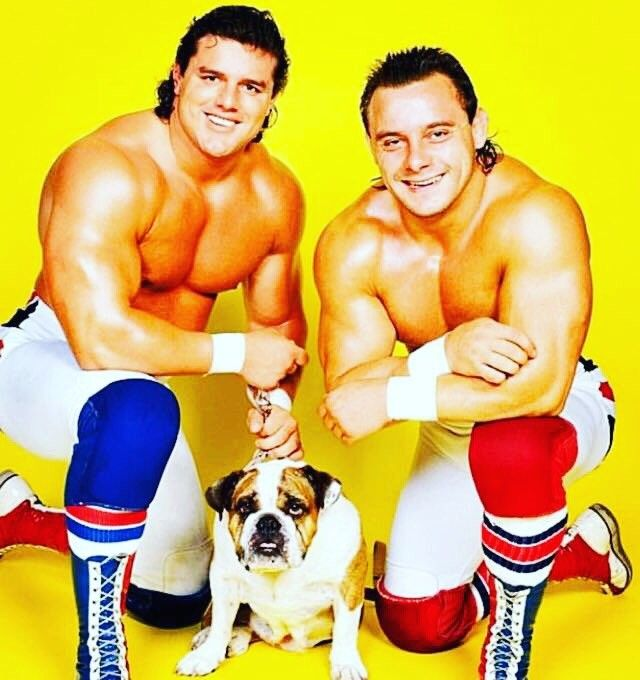 The British Bulldogs = Davey Boy Smith and Dynamite Kid. Mascot: Matilda