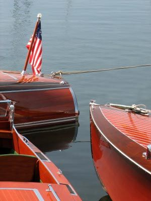 Classic mahogany and wooden boats
