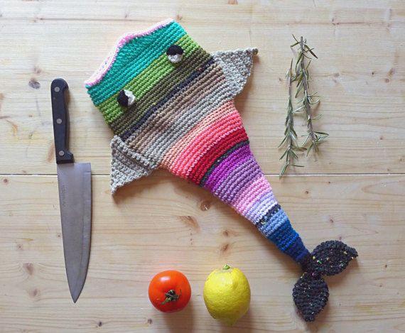Crochet fish hat beanie newborn headdress fishing di Hookloopsarah