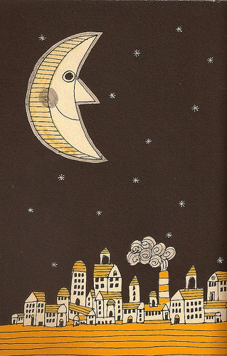 The Moon  illustrated by Lionel Kalish.