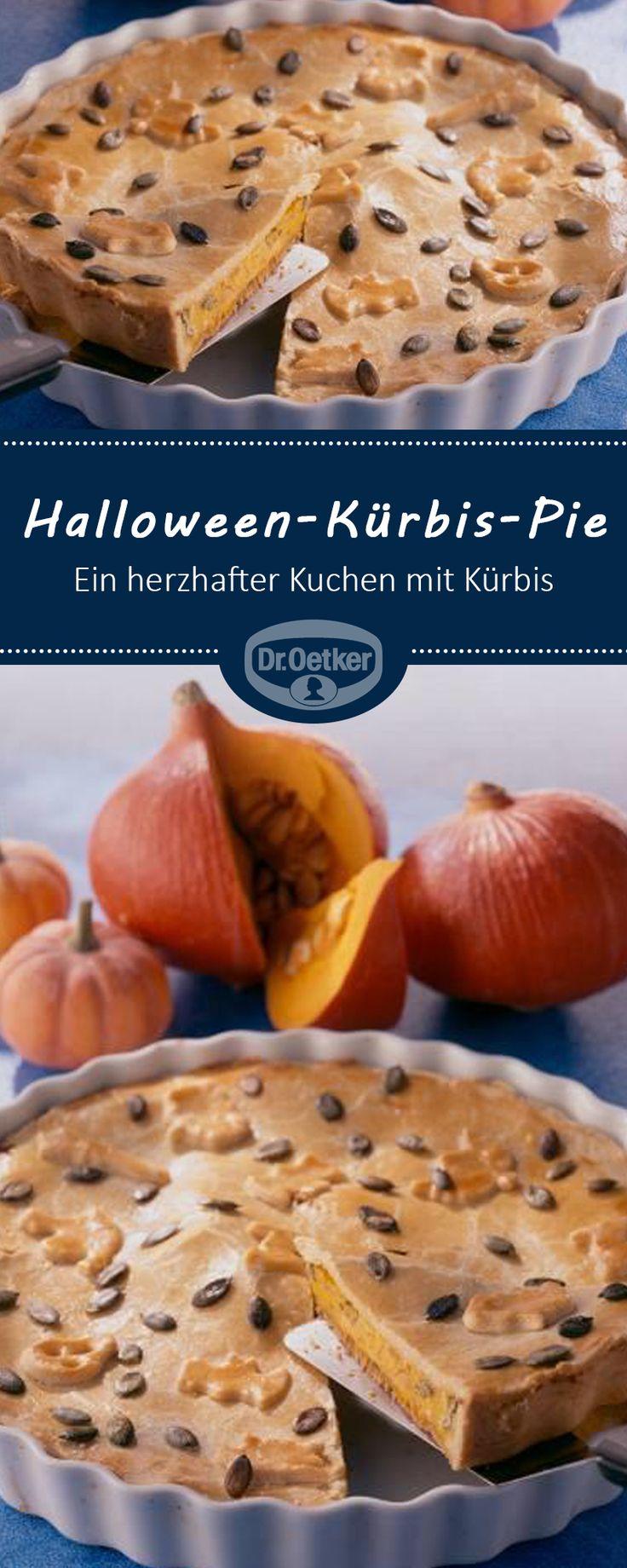 Halloween-Kürbis-Pie: Ein herzhafter Kuchen mit Kürbis für den Herbst und zu Halloween