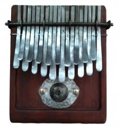 Custom F tuning KALIMBA thumb piano with 19 keys. Made by Dingiswayo Juma on request of one of our customers