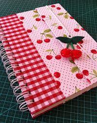 capa de caderno em tecido - Pesquisa Google