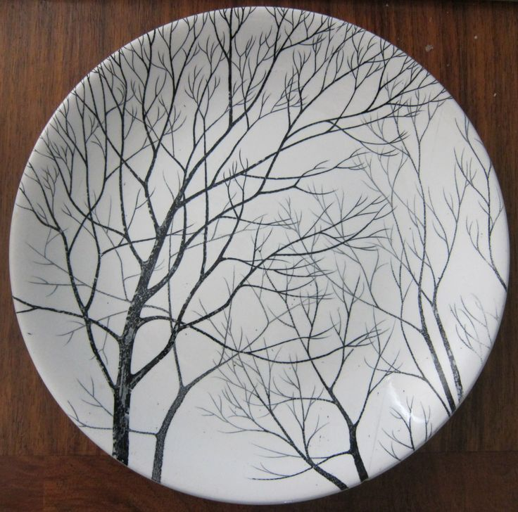 Tree plates, I have no idea who made these, but I love them.
