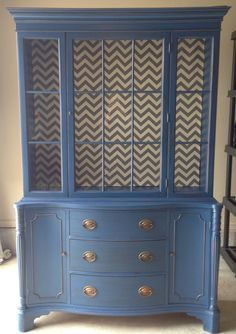 Duncan Phyfe Dining Hutch Painted White