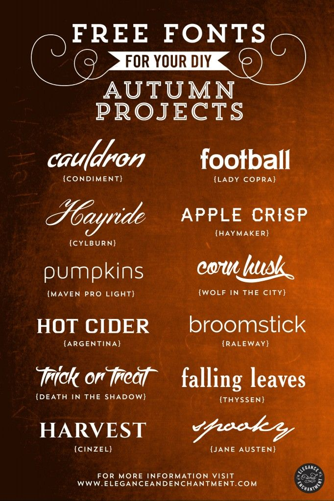 Free Fonts for DIY Autumn Projects – Volume 1