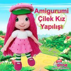 Amigurumi Çilek Kız Yapılışı http://www.canimanne.com/amigurumi-cilek-kiz-yapilisi.html Amigurumi Çilek Kız Yapılışı