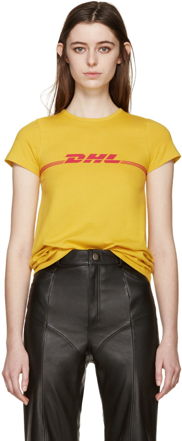 Vetements - Yellow DHL T-Shirt