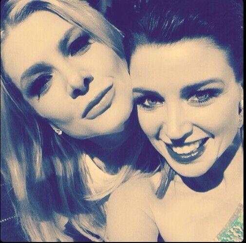 Natalie Bassingthwaighte and Dannii Minogue. Xfactor Australia Results Show 5 (credit @danniiminogue)