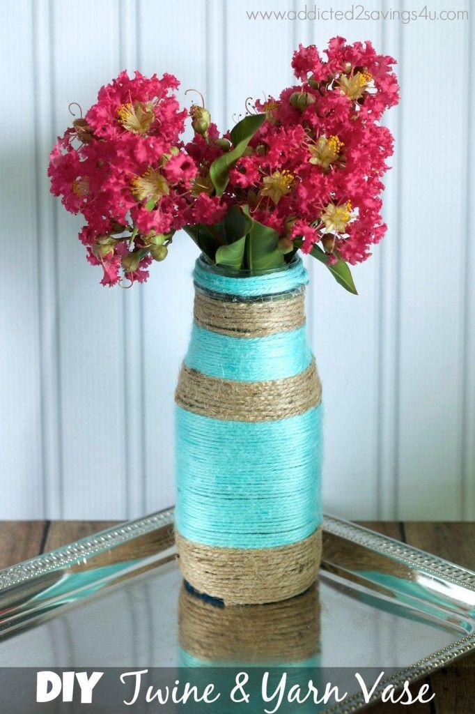 DIY Twine & Yarn Vase - A Spark of Creativity