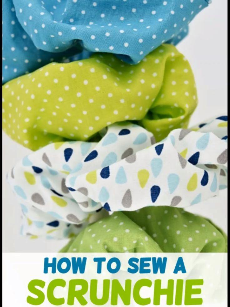 Wie man einen Scrunchie macht   – Easy Sewing Patterns